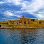 Views of the beautiful sandstone city Valetta in Malta