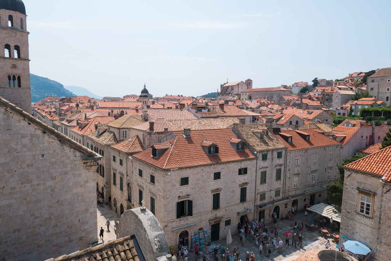Views across Dubrovnik from the wall walk.