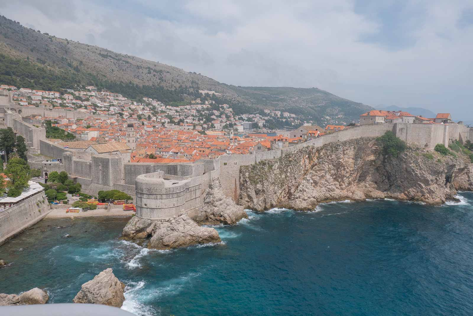 Views over Dubrovnik and the Adriatic Sea.