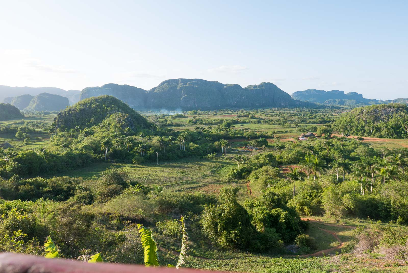View over the mountain and valley in Vinales, Cuba.