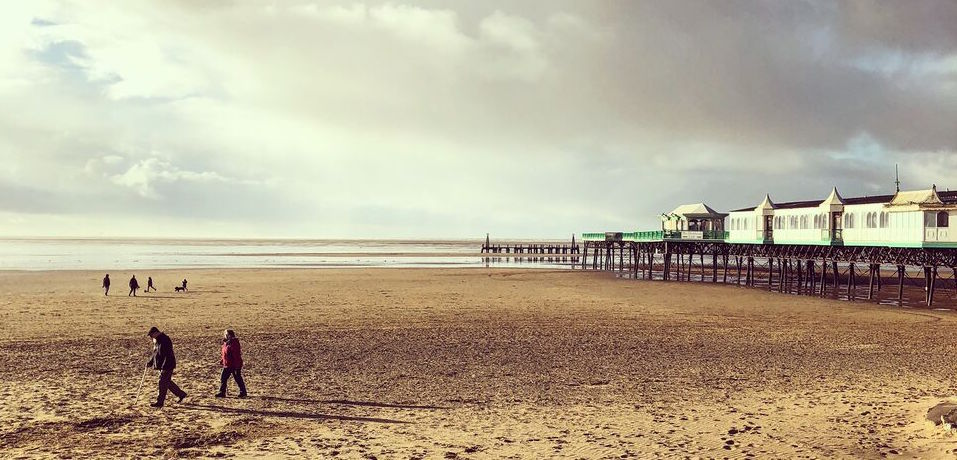 St Annes beach in Lancashire