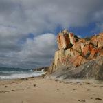 Rocks on the beach on Flinders Island.