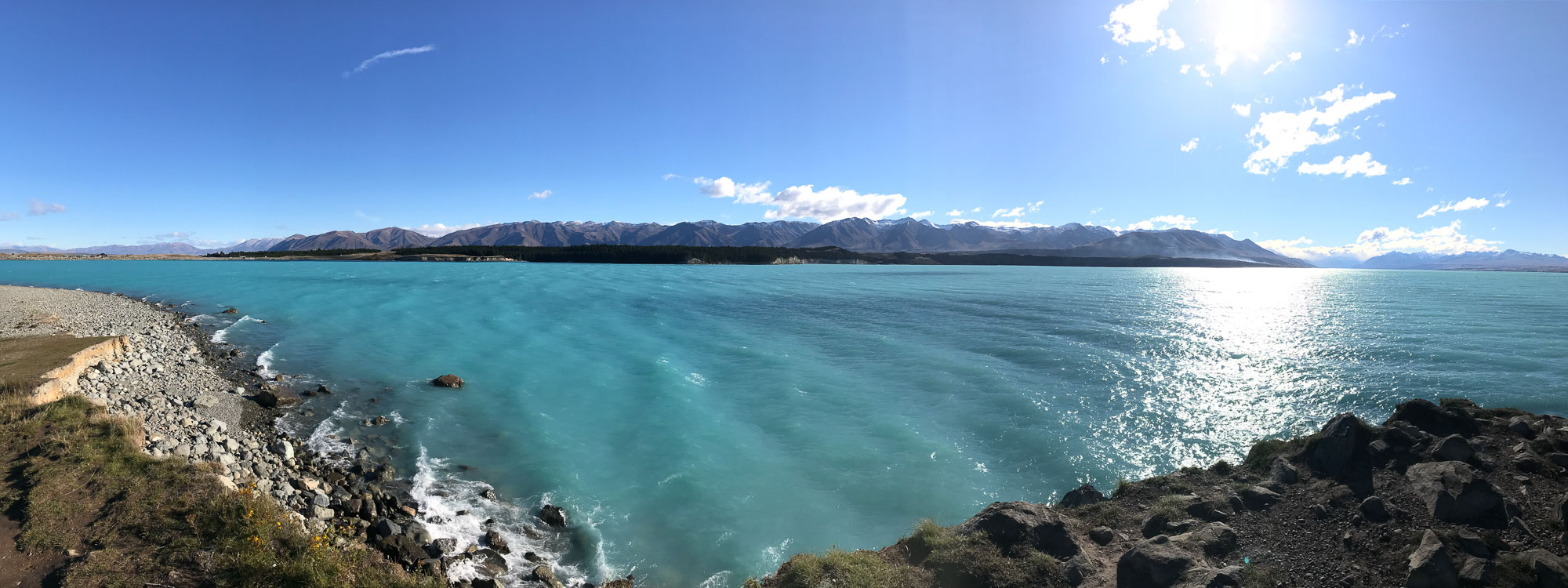 Ocean views on South Island, New Zealand.